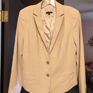 Gap Creme Blazer with Detail on the Shoulders